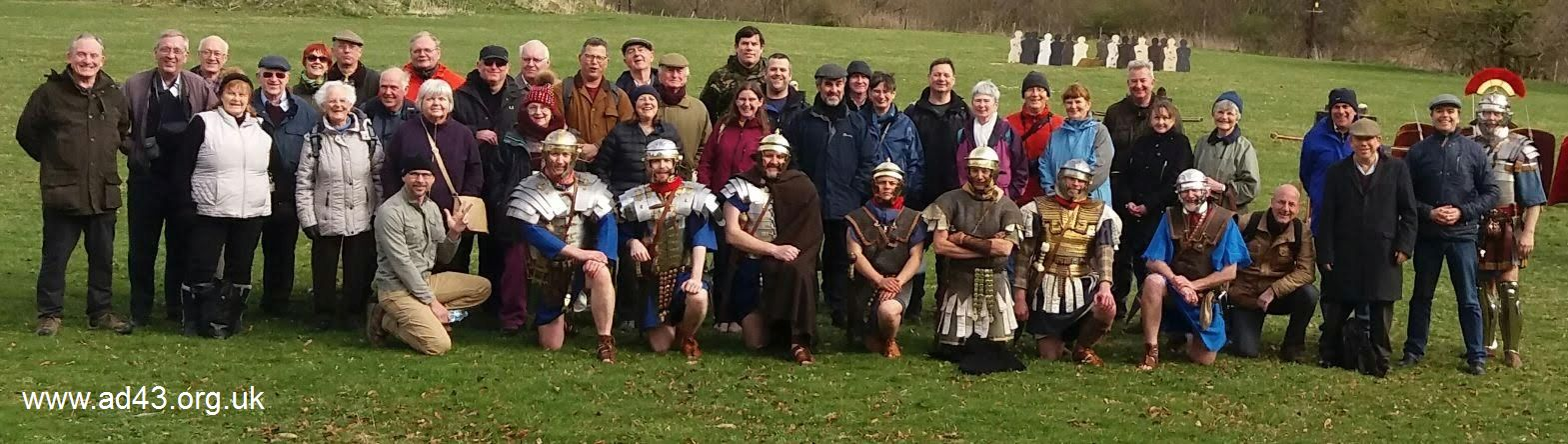 Group photo, Roman Army School and Roman Military Research Society 2019