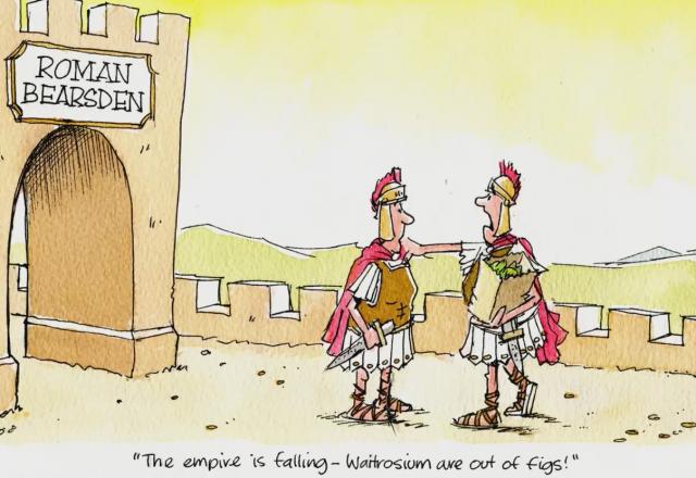 Bearsden cartoon, Empire Falling.