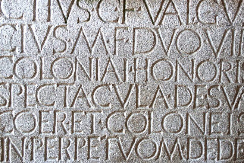 Latin inscription